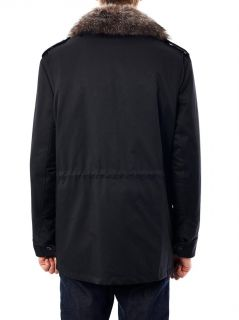Gabardine fur lined field jacket  Yves Salomon  MATCHESFASHI