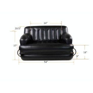 Smart Air Beds Full Sized 5 x 1 Inflatable Sofa Bed, Black: Sports & Outdoors