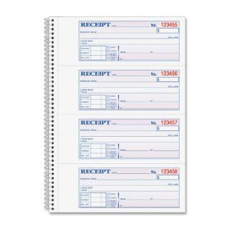 Adams Money and Rent Receipt Book, 2 Part Carbonless, 2.75 x 7.13 Inch Detached, Spiral Bound, 200 Sets per Book (SC1182) : Blank Receipt Forms : Office Products