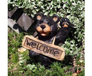 Solar Welcome Bear (Outside Ornaments) (Decorative Solar)