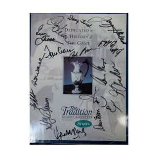 """Signed The Tradition Golf Program """"1995"""" 1995 Golf Program """"The Tradition"""" (14 Signatures in All   Gene Littler, Doug Ford, Tommy Aaron, Lee Elder, Gay Brewer, Gary Player, George Archer, Art Wall, Jay Hebert, Jim Dent, Dave Marr, plus"""