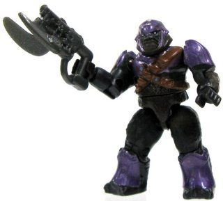 Halo Wars Mega Blocks LOOSE Mini Figure Covenant Purple Brute with Spike Rifle: Toys & Games