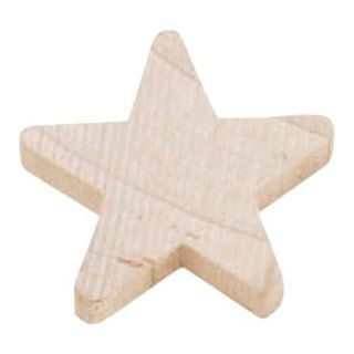 Darice 9146 48 Big Value Unfinished Wood Natural Cutout, Rounded Star