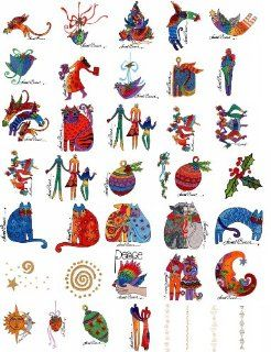 LAUREL BURCH HOLIDAY SPIRIT Embroidery Designs CD