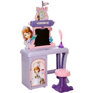 Walt Disney Princess Sofia the First Vanity/School Desk for girls of all ages with mirror. Kids/Children May use it for play makeup and/or school lessons and homework. This Vanity table is can be perfectly placed in all bedrooms.