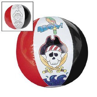 Inflatable Color Your Own Pirate Beach Balls   Crafts for Kids & Color Your Own