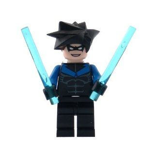 Nightwing   LEGO Batman Minifigure with Batons: Toys & Games