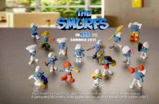 Mcdonalds Smurfs 16 Figure Set Includes 1. Papa Smurf, 2. Smurfette. 3. Handy Smurf. 4. Baker Smurf 5. Clumsy Smurf 6. Brainy Smurf 7. Farmer Smurf 8. Gutsy Smurf 9. Jokey Smurf 10. Painter Smurf 11. Greedy Smurf 12. Hefty Smurf 13. Grouchy Smurf 14. Vanit