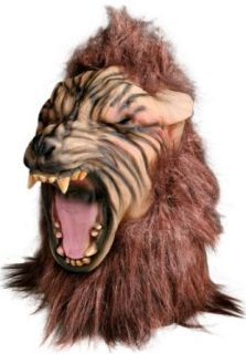 Scary Big Bad Wolf Howling Costume Mask: Clothing