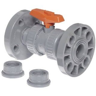 "GF Piping Systems CPVC True Union Ball Valve, Two Piece, PTFE Seat, FPM Seal, 3/4"" Flange: Industrial Ball Valves: Industrial & Scientific"