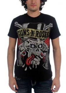 Guns N Roses   Tongue Skull T Shirt: Clothing