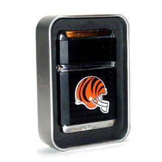 NFL Cincinnati Bengals Refillable Butane Torch Lighter + Glass Ashtray Combo Gift Set   Please read items descriptions.