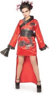 Preteen Dragon Lady Geisha Costume (Size: Small 0 2): Clothing