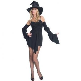 Black Witch Costume   X Large   Dress Size 14 16: Adult Sized Costumes: Clothing