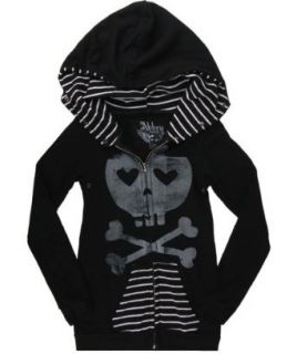 Abbey Dawn Juniors Heartcore BFH Zip Hoodie (SMALL) at  Women�s Clothing store