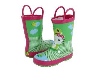 Western Chief Kids Hello Kitty Froggy Rainboot Toddler Little Kid Green Multi