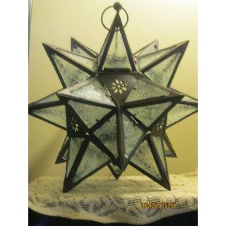 Moroccan Style Decor Hanging Star Candle Holder Lantern   Morrocan Hanging Lantern