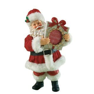 Department 56 Possible Dreams Clothtique Merry Giftmas Christmas Traditions Santa Figurine   Holiday Figurines