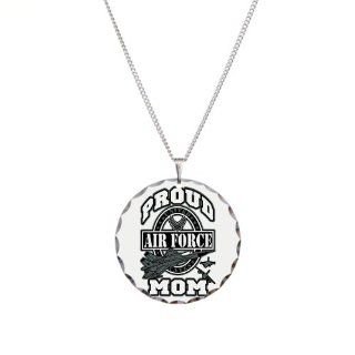 Necklace Circle Charm Proud Air Force Mom Jets: Artsmith Inc: Jewelry
