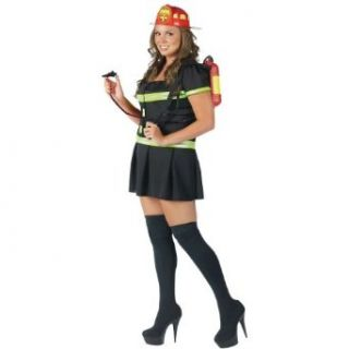 Put Out the Fire! Costume   Plus Size 1X/2X   Dress Size 16 20: Clothing