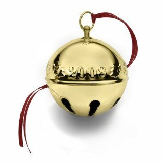 Wallace 2008 Gold Plated Sleigh Bell   19th Edition Ornament   Christmas Bell Ornaments