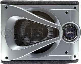 Infinity Reference 1220se Single 12 Inch Preloaded Enclosure with Slipstream Port (Silver/Black) : Infinity Subwoofer : Car Electronics