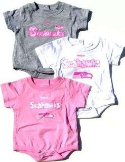 NEWBORN Baby Infant Seattle Seahawks 3 Pack Girl Onesies  Infant And Toddler Sports Fan Apparel  Sports & Outdoors