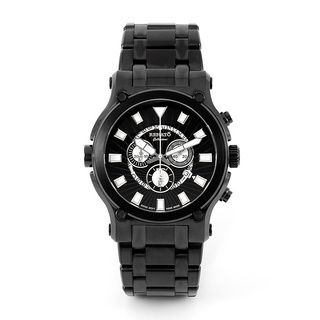 new concept 73fd6 31153 ... Renato Mens Black IP Calibre Robusta Swiss Quartz Chronograph Bracelet  Watch Renato Mens Renato Watches ...