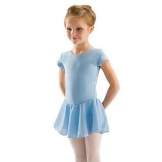 Girls Black Short Sleeve Skirt Dance Ballet Leotard 4/6: Motionwear: Clothing