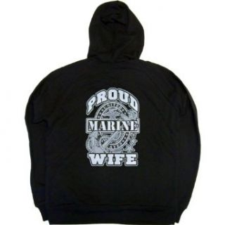Juniors Full Zip Hoody : PROUD MARINE WIFE: Clothing