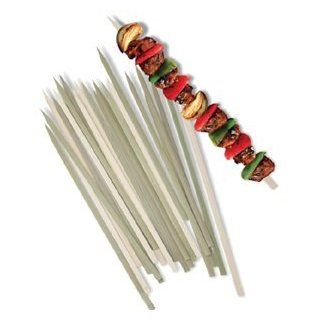 Pack of 25 BBQ 12 inch Flat Bamboo Skewers : Barbecue Skewers : Patio, Lawn & Garden
