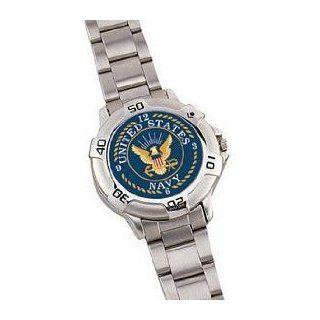 Chrome ''Navy'' Logo Watch Watches