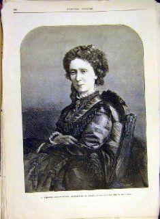 Portrait Empress Russia Marie Alexandrowna Print 1880