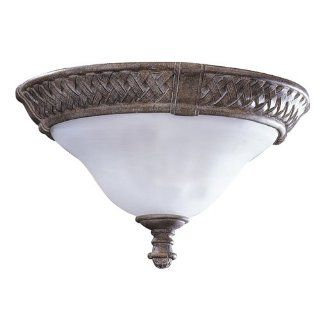 West Indies Collection Ceiling Mount Globe Light Fixture In Whitewash Pecan Finish   2 Bulbs: Computers & Accessories