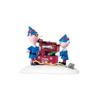 Rudolph the Red Nosed Reindeer Santa's Elves Christmas Village Figurine   Holiday Figurines