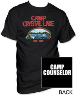 Friday the 13th Camp Counselor Black Adult Tee Shirt XXL Movie And Tv Fan T Shirts Clothing
