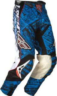 Fly Racing Evolution Race Pants   Blue/Black Size 26   365 13126: Automotive