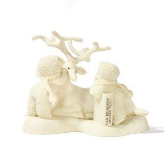 Department 56 Snowbabies Classic Can Reindeer Really Fly?   Holiday Figurines