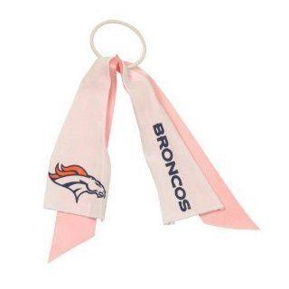 Denver Broncos NFL Pink Ribbon Ponytail Holder : Sports Fan Headbands : Sports & Outdoors