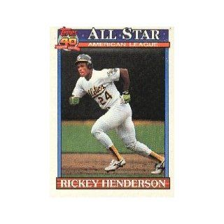 1991 Topps #391 Rickey Henderson All Star : Sports Related Trading Cards : Sports & Outdoors