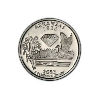 2003 S Silver Proof Arkansas State Quarter: Toys & Games