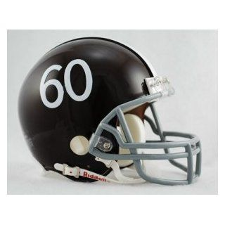 Denver Broncos 1960 61 Throwback Replica Mini Helmet w/ Z2B Face Mask : Sports Related Collectible Mini Helmets : Sports & Outdoors