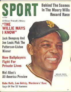 Sport Magazine October 1962 Willie Mays San Francisco Giants : Sports Related Collectibles : Sports & Outdoors