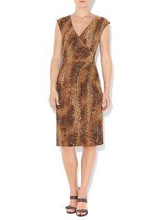 Lauren by Ralph Lauren V neck snake print wrap dress Multi Coloured