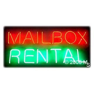 "Neon Sign   Mailbox Rental   Large 13"" x 32"" Grocery & Gourmet Food"