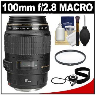 Canon EF 100mm f/2.8 Macro USM Lens + UV Filter + Accessory Kit for EOS 60D, 6D, 7D, 5D Mark II III, Rebel T3, T3i, T4i Digital SLR Cameras : Camera Lenses : Camera & Photo