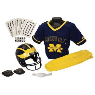Michigan Wolverines Youth Ncaa Deluxe Helmet And Uniform Set (Medium)  Sports Related Merchandise  Sports & Outdoors