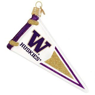 University of Washington Pennant Ornament   Sports Related Pennants