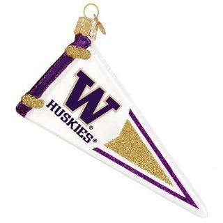 University of Washington Pennant Ornament   Sports Related Pennants