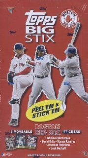 2008 Topps Big Stix [RED SOX Version] Sticker Card Box : Sports Related Trading Cards : Sports & Outdoors